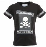 Philipp Plein Junior t-shirt round eck ss tm zwart