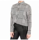 NA-KD A-kd checkered long sleeve shirt zwart