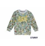 Sturdy Sweater aop palm sunray melee grijs