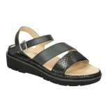 Relaxshoe Slippers sandalen 041458 zwart