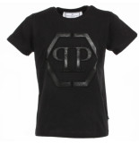 Philipp Plein Junior statement round eck t-shirt ss zwart