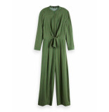 Maison Scotch Drapey printed all-in-one with knot groen