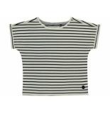 Levv Shirt korte mouw streep berna off-white ecru