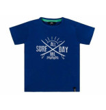 Beebielove Shirt korte mouw surf all day blauw
