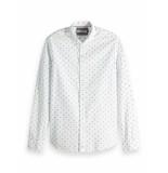 Scotch & Soda Regular fit fil-coup shirt wit