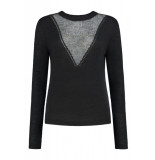 Jade Twelve Fancy v-knit zwart