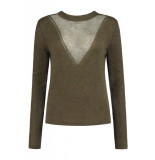 Jade Twelve Fancy v-knit groen