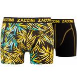 Zaccini 2pack boxershorts trendy design zwart geel