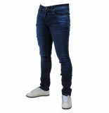 Bravo Jeans Heren jeans white wash stretch lengte 34 denim blauw