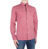 No Excess Shirt allover printed stretch rood
