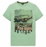 PME Legend Ptss192533 6198 short sleeve r-neck hobbs deep grass green blauw
