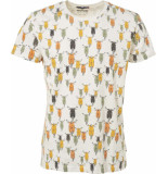 Noize T-shirt, s/s, r-neck, allover print wit
