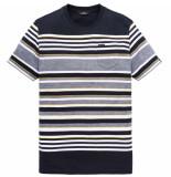 Vanguard R-neck single jersey stripe navy blazer zwart