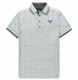 PME Legend Short sleeve polo single jersey ao bright white groen