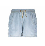 Like Flo Short ruffle denim blauw