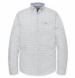 PME Legend Long sleeve shirt poplin print bright white beige