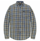 PME Legend Long sleeve shirt indigo check arrowwood blauw