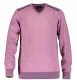 State of Art Pullover v-neck plai oud 12119499 roze