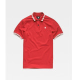 G-Star Dunda slim stripe polo d13325-5864-a383 rood