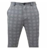 Carisma Heren pantalon geblokt stretch grijs zwart