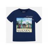 Mayoral Shirt korte mouw sunset donker blauw