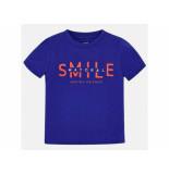 Mayoral Shirt korte mouw smile kobalt blauw