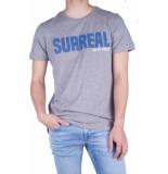 Antony Morato T-shirt 0 neck surreal print grey melange 9005 grijs