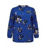Only Carmakoma Carlux cecilia ls top aop 1 15172706 surf the web/blue flower blauw