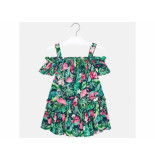 Mayoral Jurk off-shoulder flamingo pri groen