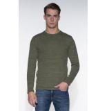 Denham Pullover o-hals groen