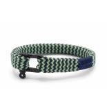 Pig & Hen P07-ss19 282512 armband sharp simon slate gray - mint green | black