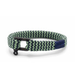 Pig & Hen P07-ss19 282512 armband sharp simon slate gray - mint green | black