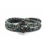 Pig & Hen P06-ss19 261909 armband tiny ted sky blue - black - sand | blac