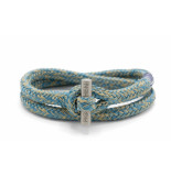 Pig & Hen P06-ss19 161204 armband tiny ted sky blue - sand | silver blauw