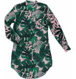 Geisha 97079-20 420 jurk pink/green combi groen