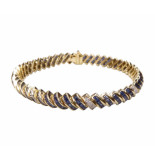 Christian 14 karaat gouden armband diamant en saffier