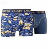 Zaccini 2pack boxershorts trendy design grijs