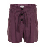 Numph Karly shorts plum perfect paars