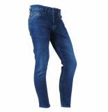 Catch Heren jeans white wash stretch lengte 32 denim blauw