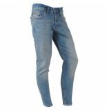 Catch Heren jeans brown wash stretch lengte 32 denim blauw