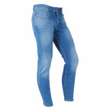 Catch Heren jeans white wash stretch lengte 32 light denim blauw