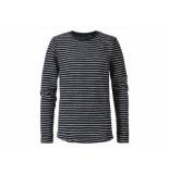 Petrol Industries Sweater streep navy blauw