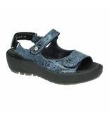 Wolky Slippers sandalen 035963 blauw