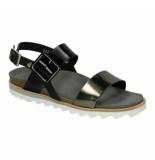Wolky Slippers sandalen 041335 zwart