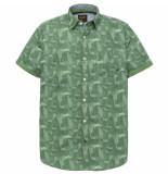 PME Legend Psis192225 6198 short sleeve shirt poplin print alex deep grass green groen