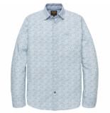PME Legend Psi192203 7003 long sleeve shirt poplin print maverick bright white wit