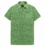 PME Legend Ppss192861 6198 short sleeve polo light pique deep grass green groen