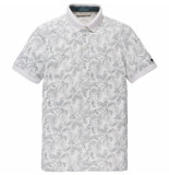 Cast Iron Cpss192566 910 short sleeve polo rubberplant aop pique stretch bone white melee wit