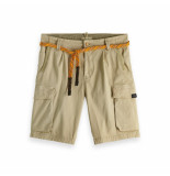 Scotch & Soda Classic washed cargo short beige