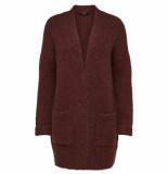 Selected Femme Regina ls knit cardigan rood